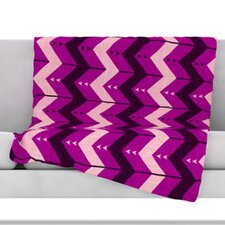 Chevron Dance Fleece Throw Blanket
