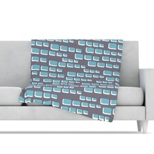 Cubic Geek Chic Fleece Throw Blanket