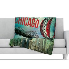 Chicago Microfiber Fleece Throw Blanket