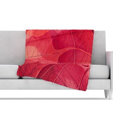 Delicate Leaves Microfiber Fleece Throw Blanket