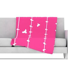 Birds Microfiber Fleece Throw Blanket