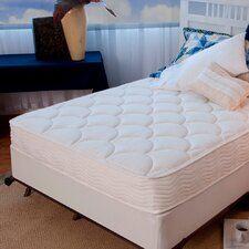 "8"" Tight Top Spring Mattress and Steel Foundation Set"