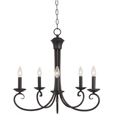 Loft 5 Light Candle Chandelier