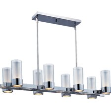 Silo Eight Light Kitchen Island Light in Polished Chrome