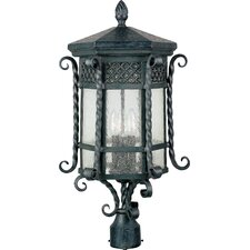 Scottsdale 3 Light Outdoor Post Lantern