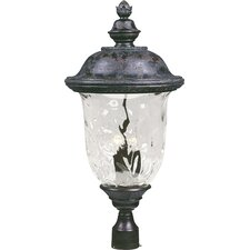 "Carriage House VX 3 Light 29"" Outdoor Post Lantern"