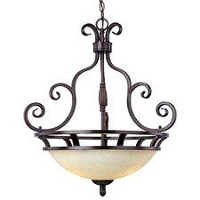 Manor 3 Light Inverted Pendant