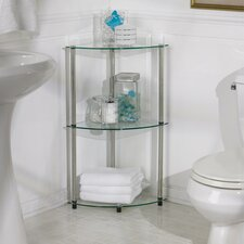 Classic Glass Three Tier Corner Shelf