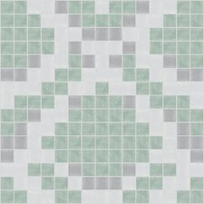 "Urban Essentials 12"" x 12"" Subtle Scales Mosaic Pattern Tile in Placid Turquoise"