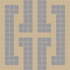 "Urban Essentials 12"" x 12"" Bold Chain Mosaic Pattern Tile in Urban Khaki"