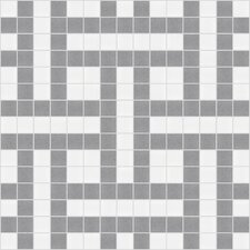 "Urban Essentials 12"" x 12"" Basket Weave Mosaic Pattern Tile in Calm Grey"