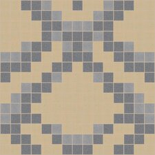 "Urban Essentials 12"" x 12"" Subtle Scales Mosaic Pattern Tile in Urban Khaki"