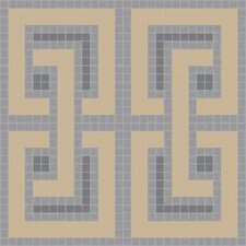 "Urban Essentials 24"" x 24"" Interlocking Mosaic Pattern Tile in Urban Khaki"
