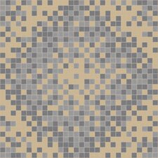 "Urban Essentials 24"" x 24"" Scatter Mosaic Pattern Tile in Urban Khaki"