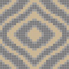 "Urban Essentials 24"" x 24"" Groovy Mosaic Pattern Tile in Urban Khaki"