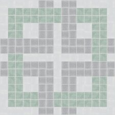 "Urban Essentials 12"" x 12"" Woven Lattice Mosaic Pattern Tile in Placid Turquoise"