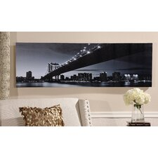 Bridge Design Wall Print with LED Lights