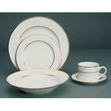 Double Gold Line Dinnerware Set