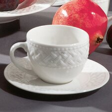 Havana Weave Coupe 8 oz. Teacup and Saucer