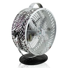 Himalayan Breeze Décor Zebra Fan