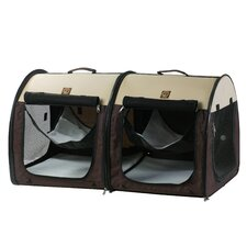 Portable Fabric Double Pet Kennel