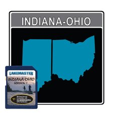 Indiana/Ohio Electronic Fishfinder Chart Card