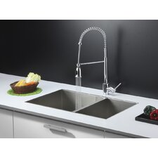 "32"" x 20"" Kitchen Sink with Faucet"