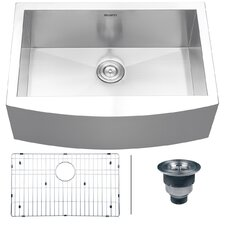 "Verona 30"" x 21"" Apron Front Single Bowl Kitchen Sink"