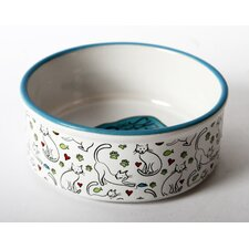Mr. Snugs Ceramic Cat Feeding Bowl