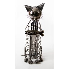 "Mr. Snugs ""I Love My Cat"" Cat Tabletop Wine Rack"