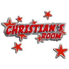 Custom Named Metal Stars Door Sign 3D Cartoon Wall Art
