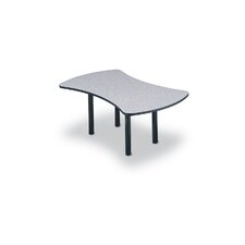 "96"" Wide Break Out Top Conference Table with Slab Base"