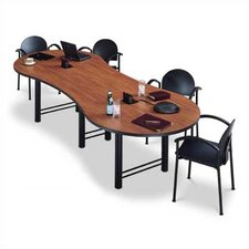 "120"" Wide Break Out Top Conference Table with H Base"