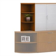 "Unity Executive Series 38"" H Corner Bookcase"