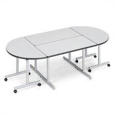 "Smart Tables: 24"" x 72"" Rectangle Thermofused Melamine Conference Table and Half Circle Kit"