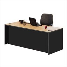 Unity Double Full Pedestal Executive Desk with 2 Right & 2 Left Drawers