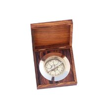 Admiral's Desk Compass with Rosewood Box