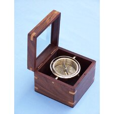 Lifeboat Compass with Rosewood Box