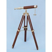 Floor Standing Wood Harbor Master Telescope