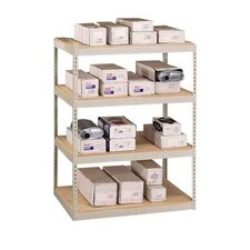 "72"" & 96"" Wide Double Rivet Units (with Center Support) - 4 Shelf Starter Unit, No Channel Beams"