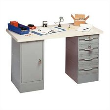 Modular Work Benches - Plastic Laminate Top, 4 Drawers, 1 Cabinet