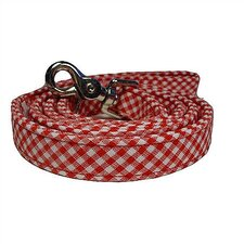 Gingham Cotton Dog Leash