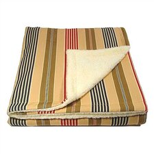 Pet Quilt in Ticking Stripe