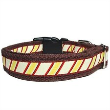 Repp Stripe Cotton Dog Collar