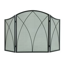 Arched 3-Panel Fireplace Screen