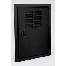 Legacy Single Access Black Powder Door with Louvers