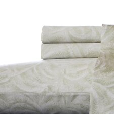 Etched Palm Cotton Sheet Set