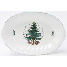 Happy Holidays Oval Platter