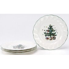 "Happy Holidays 8"" Salad Plate (Set of 4)"