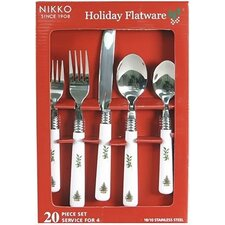 Xmas Flatware Holiday 20 Piece Set